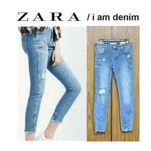 NEW Zara 'I Am Denim' Le Vasia Cropped Skinny Jean